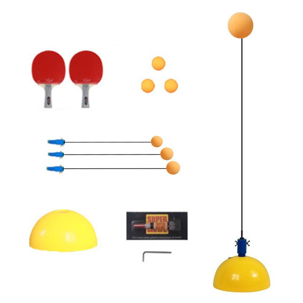 Jeu d'entraîneur de Tennis de Table jeu de balle de Ping-Pong outil élastique à arbre souple pour soulager la pression jouet d'auto-entraînement sport aide intérieure apprenant