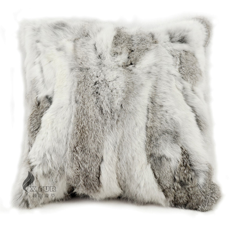 Achetez en gros fourrure de lapin coussin en ligne des - Housse de coussin fausse fourrure ...
