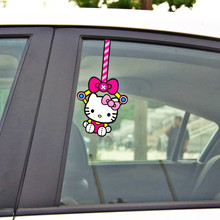 Etie Car Accessories Cartoon Funny Hello Kitty Sticker Decal Decoration for Motorcycle Trolley Case Laptop Renault Chevrolet Kia(China)