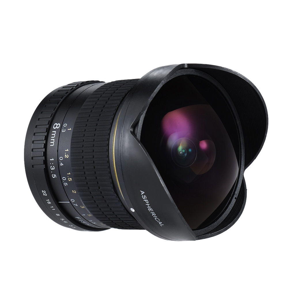 Lightdow 8mm F/3.5 Ultra Wide Angle Fisheye Lens for Nikon DSLR Camera D3100 D3200 D5200 D5500 D7000 D7200 D800 D700 D90 D7100 universal 0 35x hd fisheye lens for nikon d5200 d3100 more black 52mm