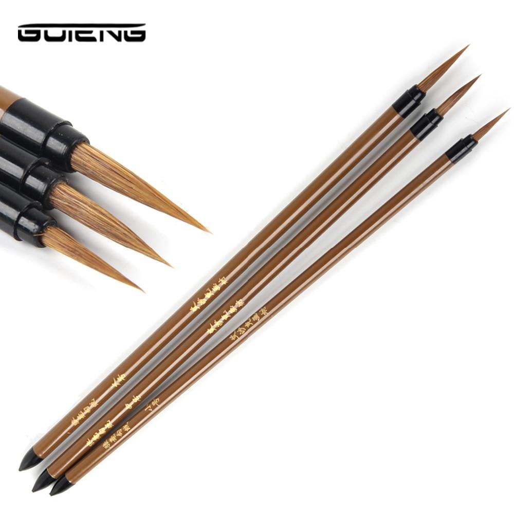 3Pcs Miniature Paint Detail Brush Wolf Hair Professional Fine Detailing For Art Supplies Drawing Art Pen Paint Brush