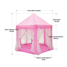 Portable Foldable Princess Castle Play Tent Children Fairy House Funny Indoor Outdoor Playhouse Beach Toys MC889 стоимость