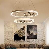 Современный простой индикатор Кулон лампы Nordic Гостиная Ресторан подвесной светильник кафе бар Костюмы магазин украшения светодиодный све
