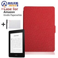 Fino Moda Capa Para Amazon Kindle Paperwhite Caso 6 Tampa estojo De Couro para Kindle Paperwhite 2015 ''Ereader E-book + filme + caneta