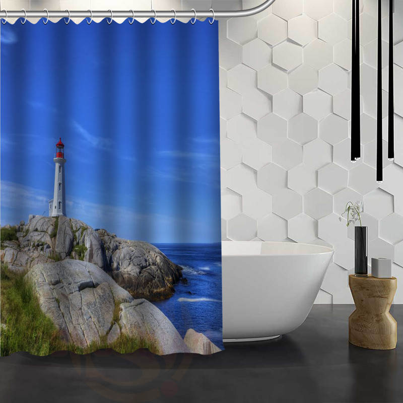 buy new lighthouse custom shower curtain waterproof fabric bath curtain for bathroom wjy117 from reliable curtains waterproof suppliers on