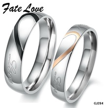 Fate Love His And Hers Promise Ring Sets Korean Couple Stainless Steel Engagement Wedding Rings For Woman Man Love Jewelry FL284