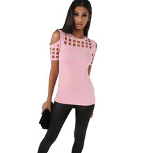Women's Short Sleeved T-shirt with Cold Shoulder