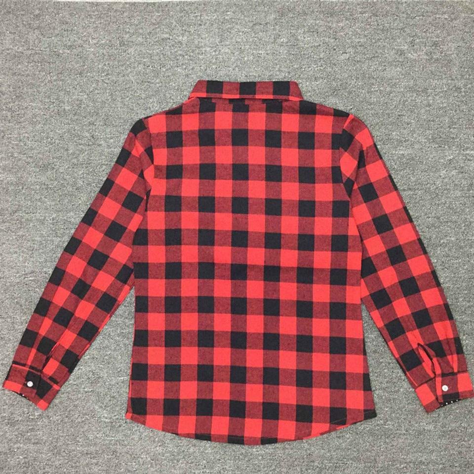 Baby Girls Boys Christmas Long Sleeve Shirt Girl Red Plaid Tops Kids - Children's Clothing - Photo 3