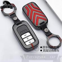 цена на Zinc alloy Key Car Cover Case For Honda Civic Vfc 2017 Accord 2003-2007 Cr-v Freed Pilot Style Car Key Ring Holder