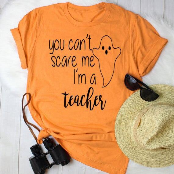 Вы не можете напугать меня я учитель медсестра мама футболка Хэллоуин учитель футболка Для женщин футболка смешные футболки топы Прямая поставка