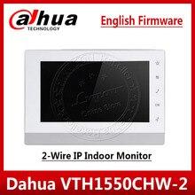 "Dahua VTH1550CHW 2 צג 2 חוט IP מקורה צג 7 ""TFT מגע קיבולי מסך וידאו אינטרקום שדרוג VTH1550CH"