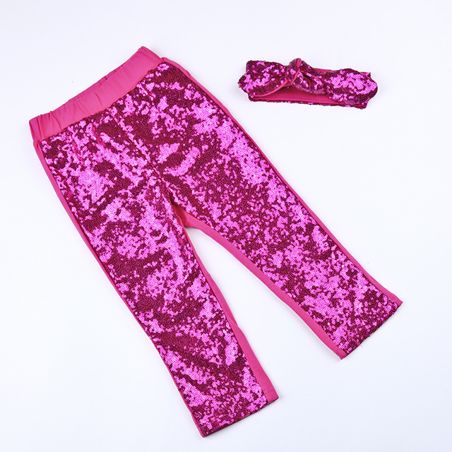 cd2148482ffab0 Little girls red sequin pants Baby Girls Sequin Leggings Toddler Gold Sparkle  Leggings Birthday Pants 1-8 years old