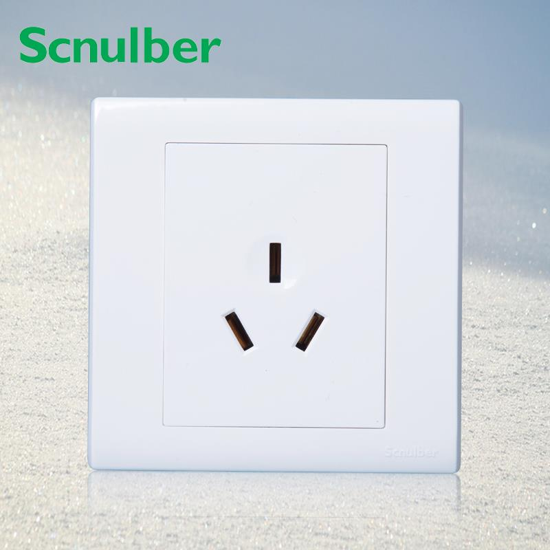 86*86mm air conditioner 250v power wall panel 3 poles 16A socket outlet86*86mm air conditioner 250v power wall panel 3 poles 16A socket outlet