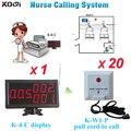 Inteligente timbre inalámbrico de cable de tracción a llamada para ayuda usado en el hospital K-4-C receptor incorporado instalar el enfermera estación W 20 unids botón