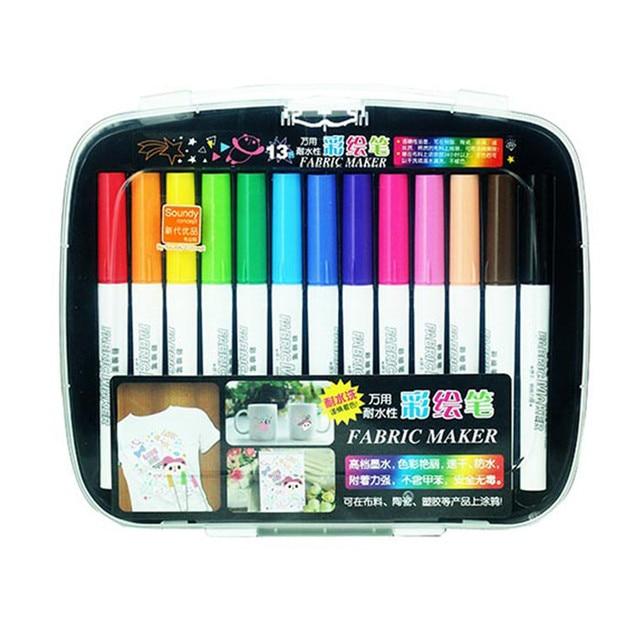 13 colors set colored marker pen fabric ceramic plastic t shirt