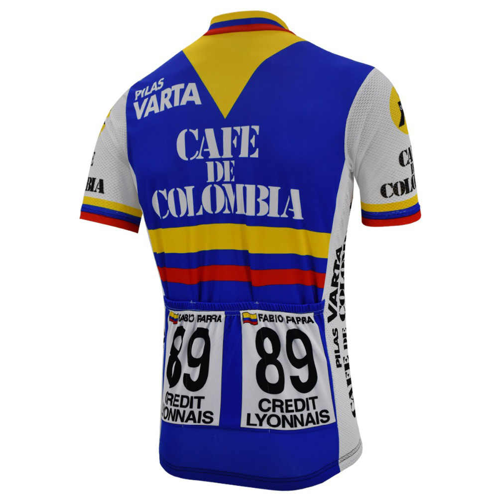 Cycling Short Sleeve Jersey 1990 France Z Credit Lyonnais Cycling Jersey