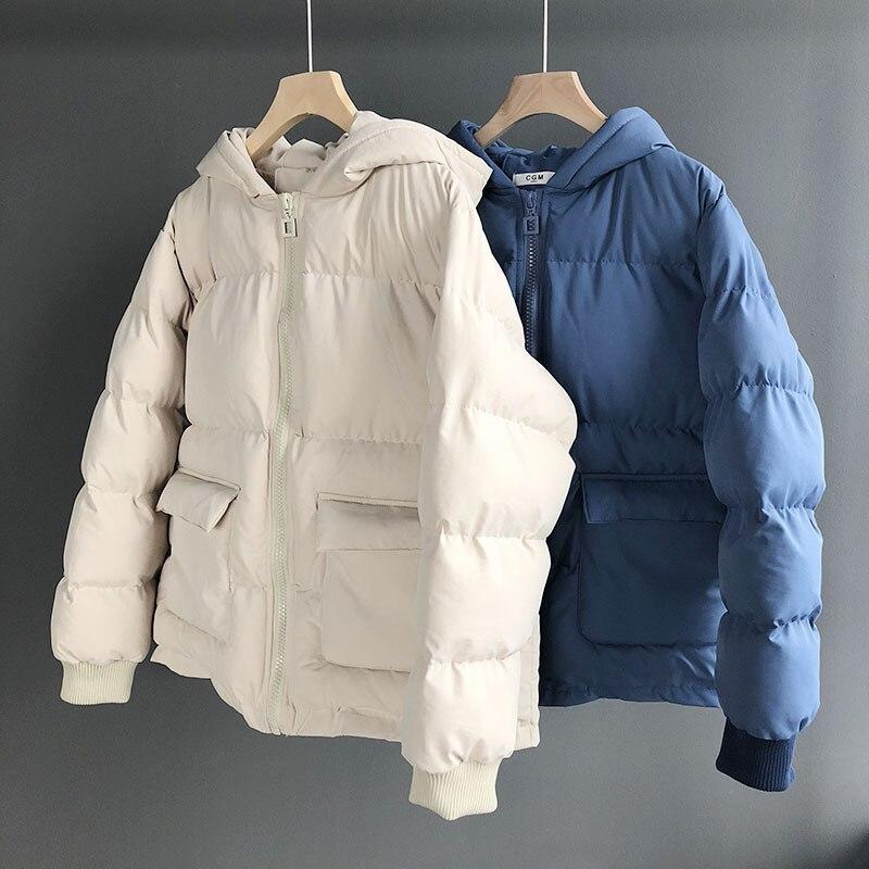 b Vers Le Épais A D'hiver c Mode Bas De Capuche Doudounes Survêtement Femelle Court Veste Coton Femmes Manteau À Marques Chaud FK1Jcl