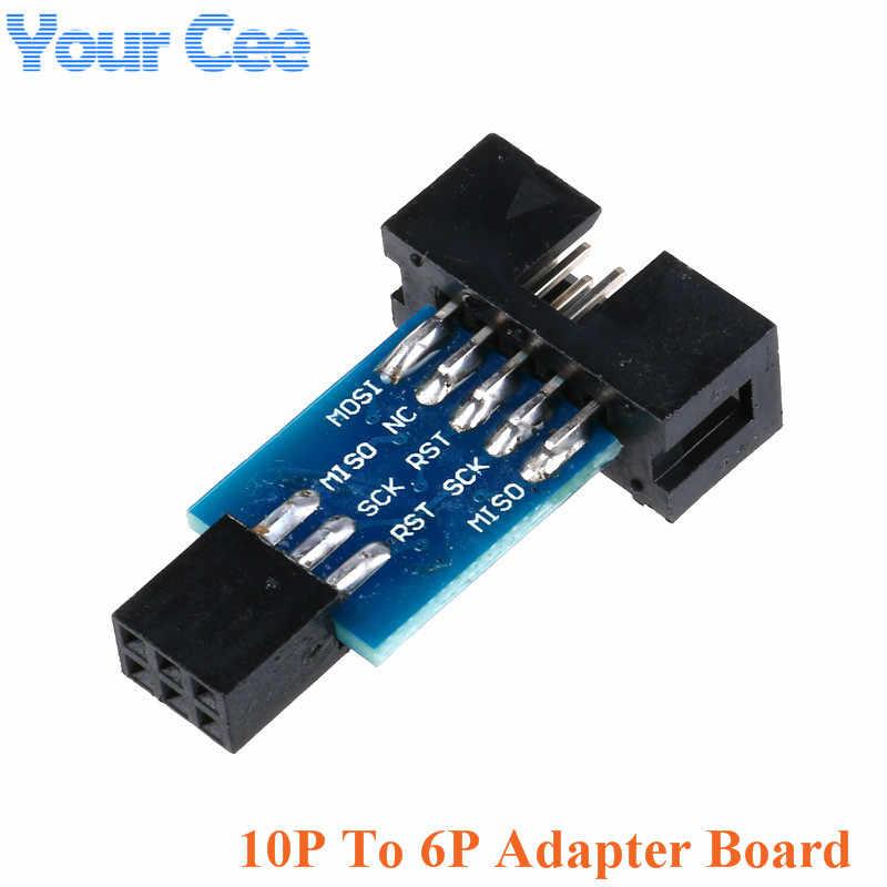 Программатор USBASP USBISP AVR USB ISP USB ASP ATMEGA8 ATMEGA128 Поддержка Win7 64 10Pin модуль провода 10Pin к 6 Pin плата адаптера