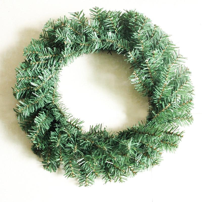 2017 40 cm navidad guirnalda verde decoracin fiesta de navidad de pino corona de navidad la