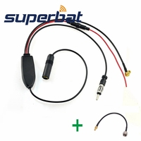 Superbat FM AM To DAB DAB FM AM Car Radio Aerial Amplifier Converter Splitter And SMB