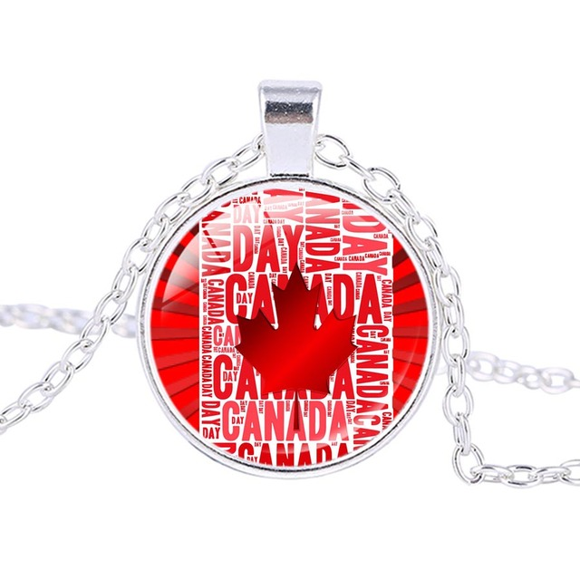 New Arrival Happy Canada Day Celebration Silver Plated Pendant