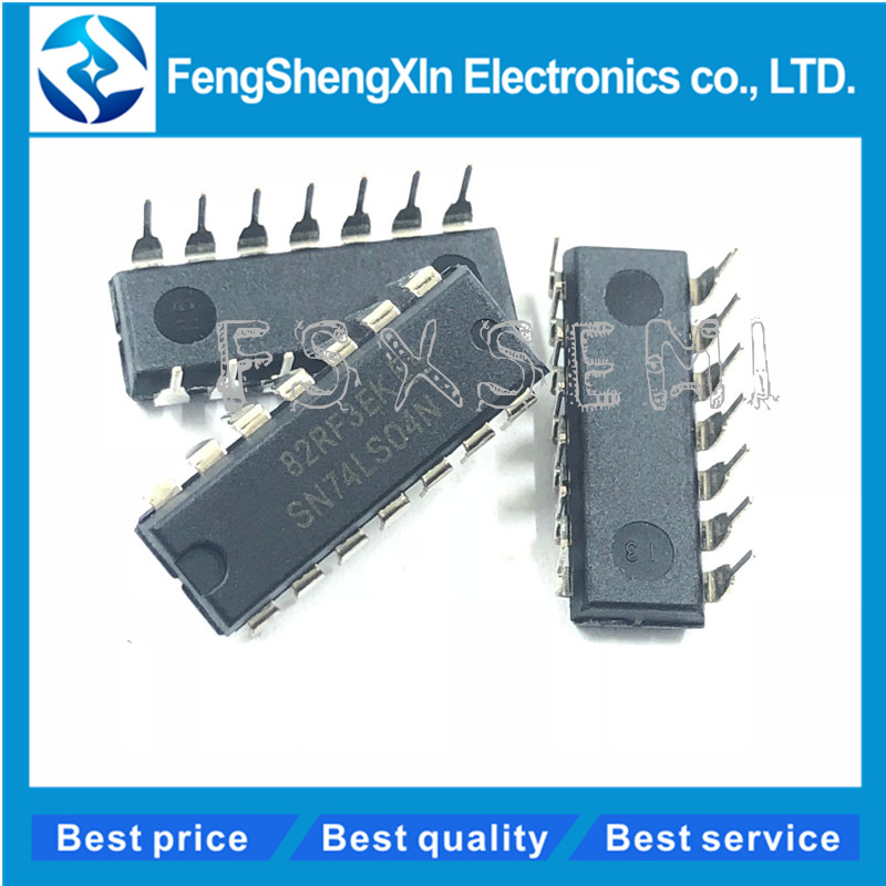10pcs/lot SN74LS04N DIP 14 SN74LS04 HD74LS04P 74LS04 74LS04N DIP IC-in Integrated Circuits from Electronic Components & Supplies