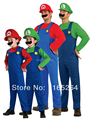 super mario costume with Hat and beard Adult Child Green / Red supermario costume