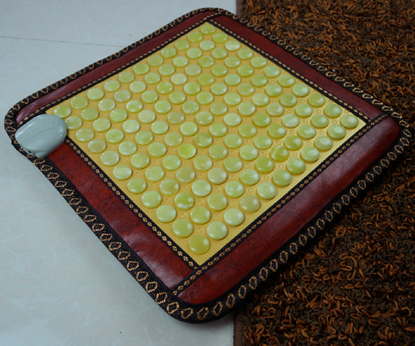 Wholesale 2016 Jade Germanium Health Care Tourmaline Mat Heated Massage Electric Heating Cushion Nice Bottom Pad 45*45cm 2016 most popular natural heating jade tourmaline mat thermal germanium cushion massage mattress health care 0 7x1 6m