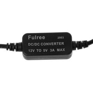 Image 2 - شاحن سيارة مزدوجة USB الإناث المكونات 12 V إلى 5 V 3A DC إلى DC محول لإمداد الطاقة ل DVR
