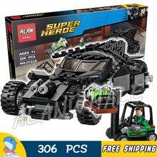 306pcs Super Heroes Batman Movie Superman Kryptonite Interception 07018 Model Building Blocks Toys Bricks Compatible with Lego