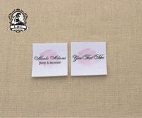 70 Custom Logo Labels Brand Labels Handmade Fabric Tags Custom Clothing Labels Name Tags Watercolor Design