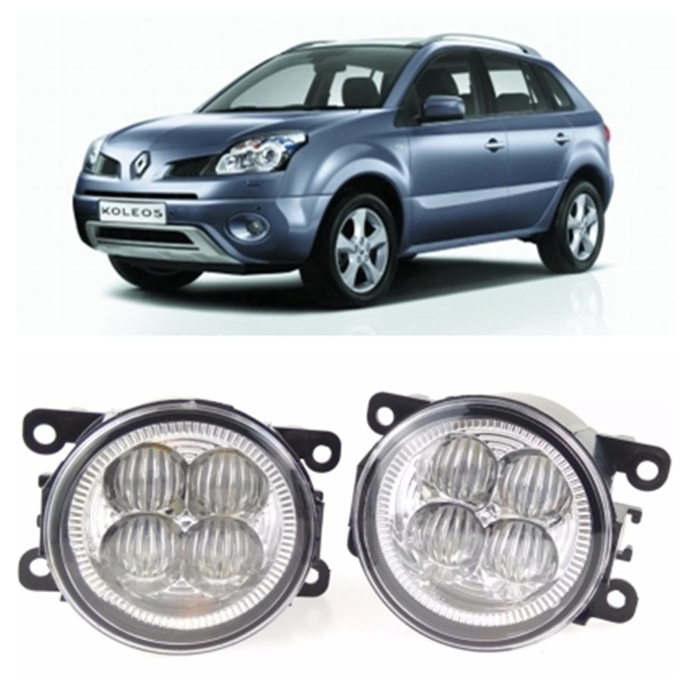 For RENAULT Koleos HY Closed Off-Road Vehicle  2008-2015 10W High power high brightness LED set lights lens fog lamps for renault koleos hy