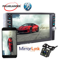 2Din Touch Mirror Link Screen Mirror For Android Phone 6.6 Remote Control 12 Languages Car Radio USB/SD Bluetooth MP5 Player