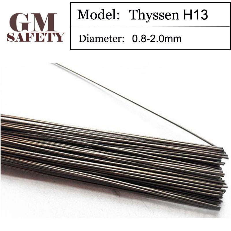1KG/Pack GM Thyssen H13 of 0.8/1.0/1.2/2.0mm TIG Welding wires&Repairing Mould argon Soldering Wires B111 1kg pack thyssen 738 tig welding wires