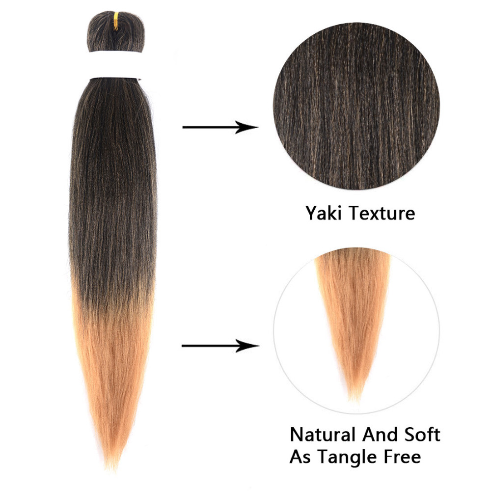 Professional Pre-stretched 100% Kanekalon Ez Braid Beyond Beauty Perm Yaki Texture Itch Free Low Temperature Fiber Hair Braids