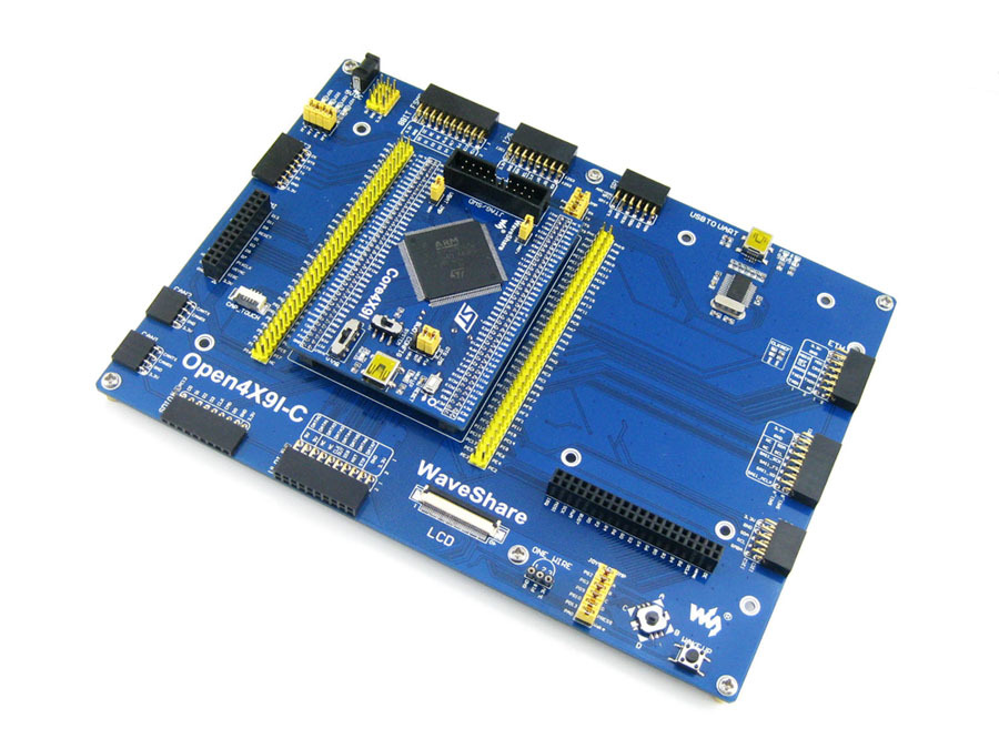 Waveshare STM32F429IGT6 STM32F429 STM32 ARM Cortex M4 Development Board Various Interfaces = Open429I-C Standard Mother Board black plastic ads iar stm32 jtag interface jlink v8 debugger arm arm7 emulator cortex m4 m0
