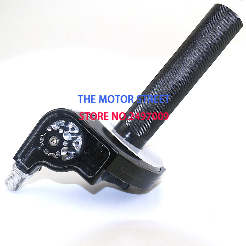 Free Shipping CNC Aluminum adjustable Throttle Grip Quick Twister Fit 7 8 22mm Motorcycle dirt pit