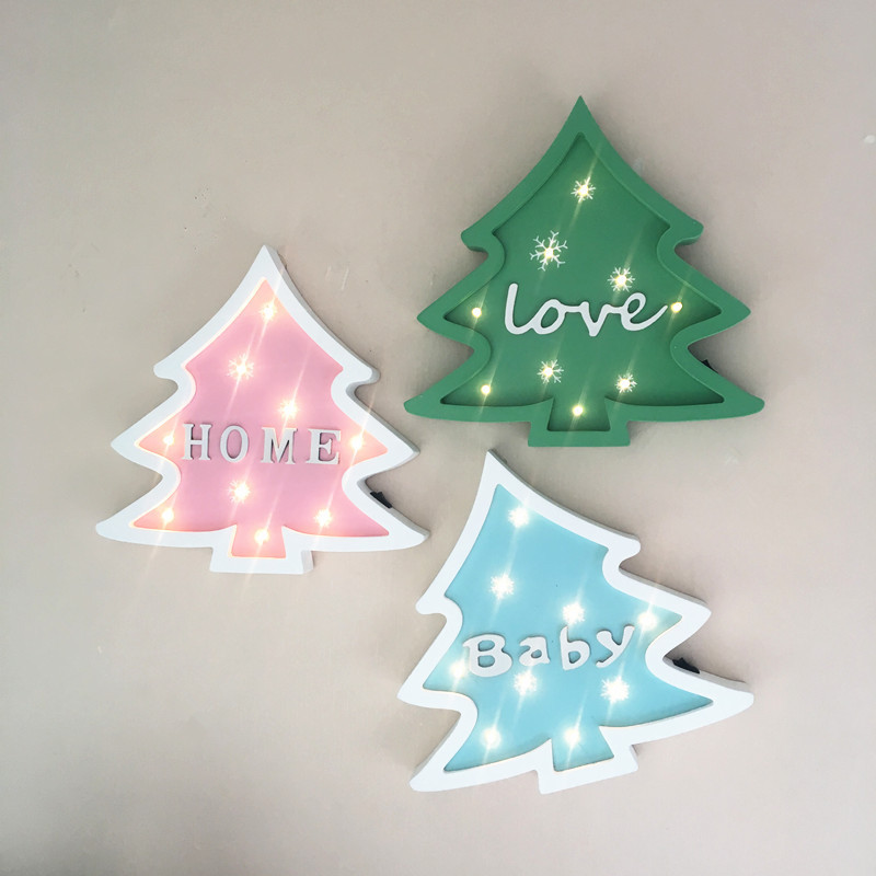 Christmas Tree LED Night Light Children Green Pink Blue Pine Tree 3D Christmas decorations Holiday Party Table Lamp  2017 sale real christmas tree christmas gift christmas decorations for home new blue festival wedding hotel led light h003 2