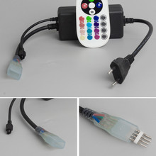 220V Colorful lights led controller FOUR LINE LED Strip 5050 RGB Controler Remote control color FREE SHIPPING