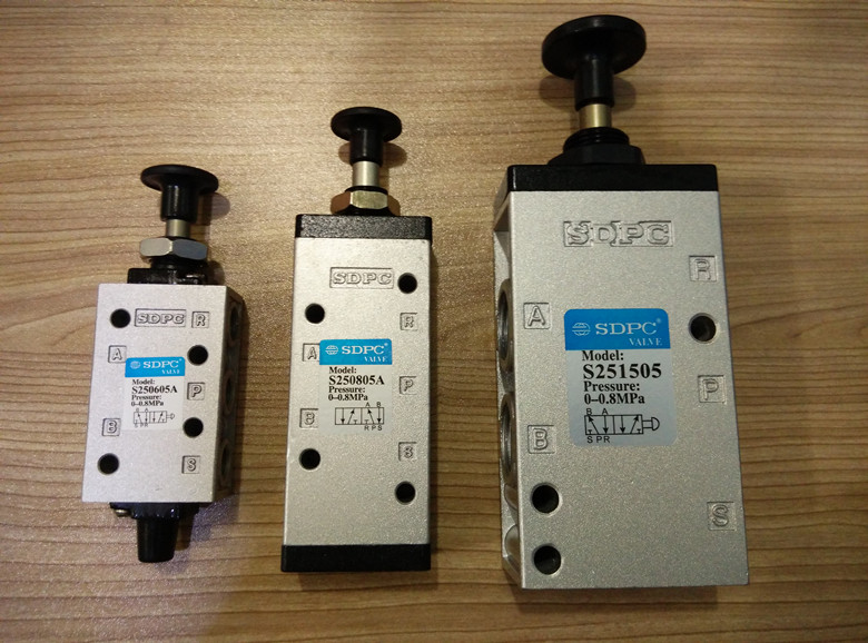 Genuine SDPC pneumatic components two five-way manual valve push-pull valve S250805A S251505 S251005 S250805 S250605 S250605A sdpc pneumatic components two five way