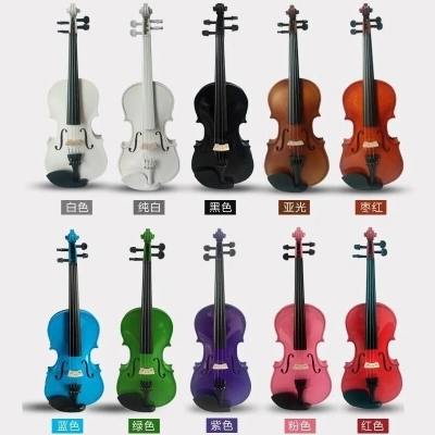 All solid wood color violin, handmade top grade, childrens adult examination beginner, sound quality standardAll solid wood color violin, handmade top grade, childrens adult examination beginner, sound quality standard