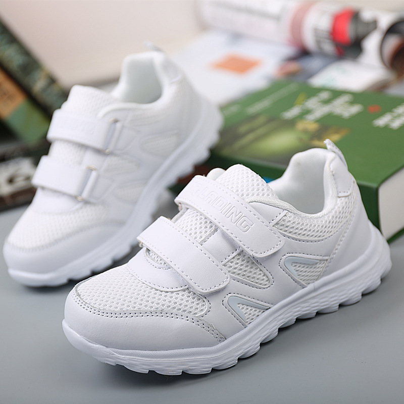 New Fashion White Mesh Sports Shoes Kid Casual Breathable Children School Sneakers For Girls And Boys Size 25-37