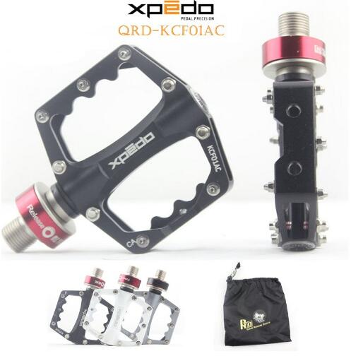 Wellgo Xpedo KCF01AC Ultralight Bicycle Pedals Quick Release Cycling Aluminum Alloy Road Bike Pedals Mountain Bike Bearing Pedal купить в Москве 2019