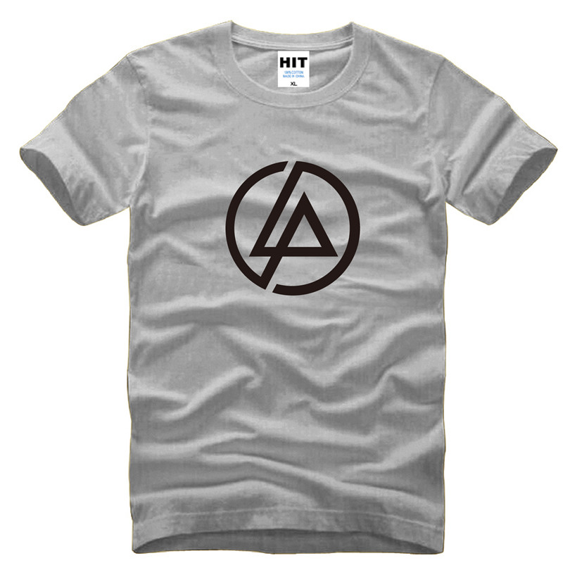 Lincoln linkin park rock printed men 39 s t shirt t for South bay t shirt printing