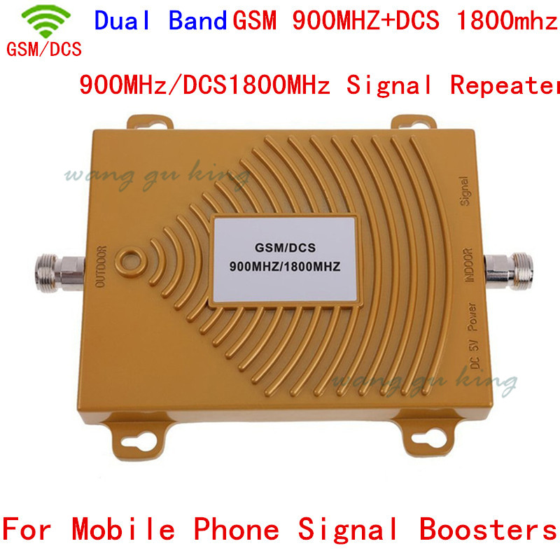Free Shipping 2G GSM 900Mhz DCS 1800MHz Dual Band Mobile Phone Signal Booster , Mini 2G DCS GSM Signal Repeater + Power Adapter