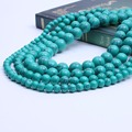 4/6/8/10/12mm Round Turquoise Beads For Jewelry Making Supplies DIY loose beads Natural stone material/Jewelry Accessories