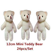 12cm Mini Teddy Bear  Small Doll For  Wedding Bouquets Plush toy Promotion Gift DIY Accessories