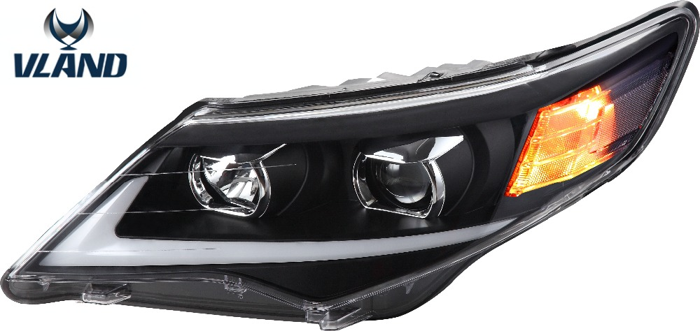 Free shipping Vland Car Accessories for Toyota camry 2012 2013 2014 Head Lamp Headlight Modify Custom Middle east type
