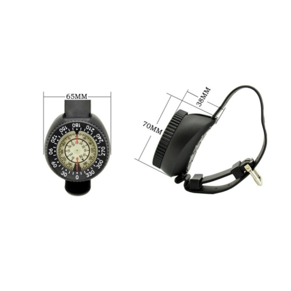 Mini relógio de pulso bússola fluorescente dial