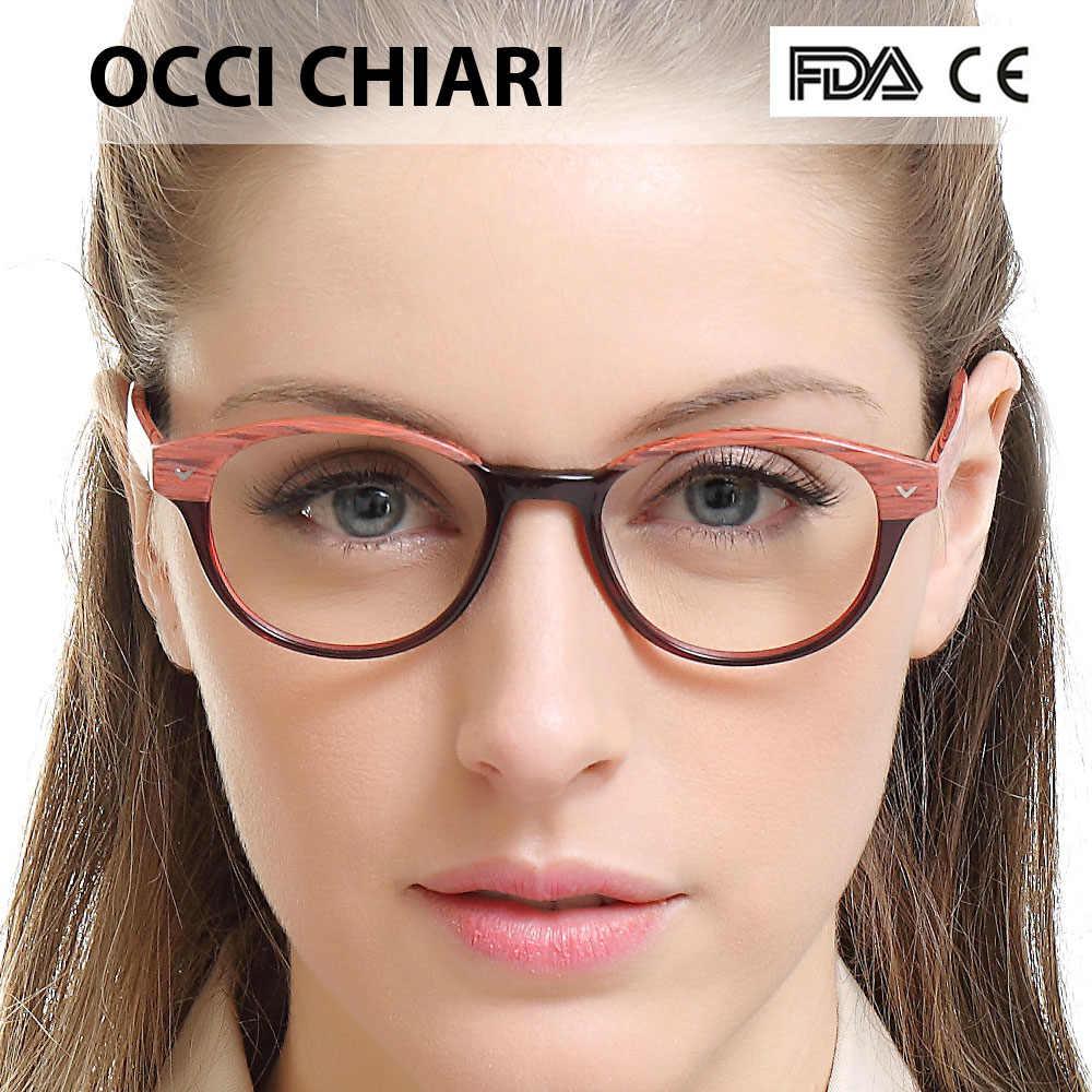 cbe1a7e712cb ... Optical Glasses Frame for Women Brand Designer Vintage Full Rim Round  Acetate Spectacles Eyewear Frame Spring ...